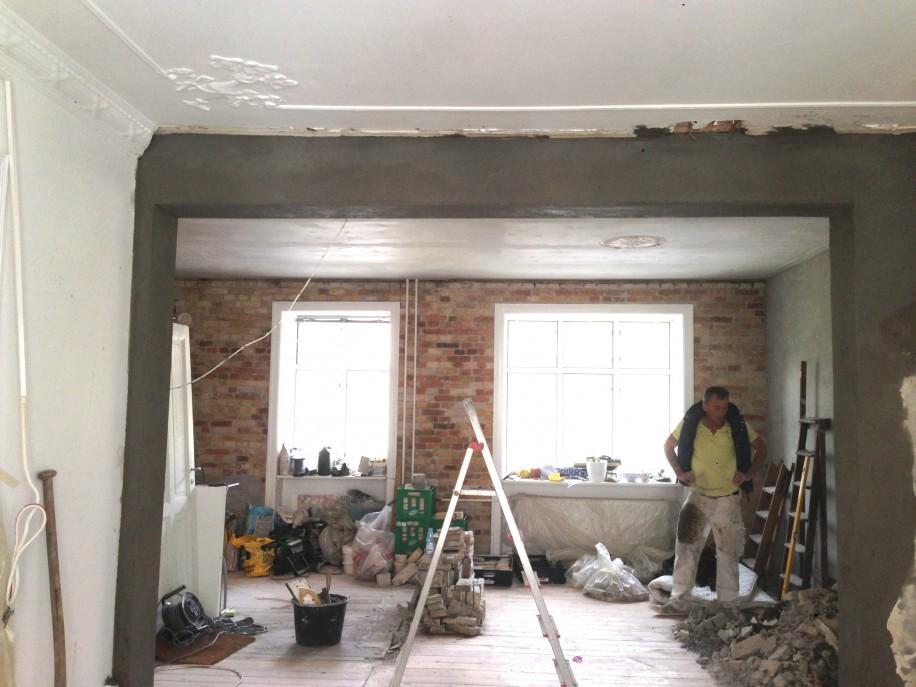 Nedrivning af væg i lejlighed